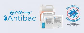 Lite'n Foamy Antibac agora possui laudo de eficácia contra o novo Coronavírus (Sars-CoV-2)