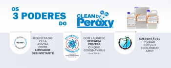 Clean by Peroxy agora possui laudo de eficácia contra o novo Coronavírus (Sars-CoV-2)