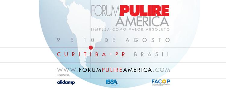 Pela primeira vez fora da Europa, Forum Pulire America será realizado em Curitiba