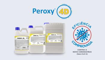 Peroxy 4D agora possui laudo de eficácia contra o novo Coronavírus (Sars-CoV-2)